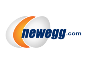Logo of Newegg, an online retailer that stocks Exascend products