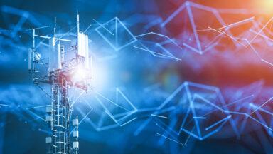Telecommunications tower processing massive amounts of data