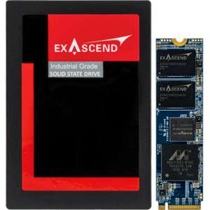Exascend's PI3 series product lineup with U.2 and M.2 form factors.