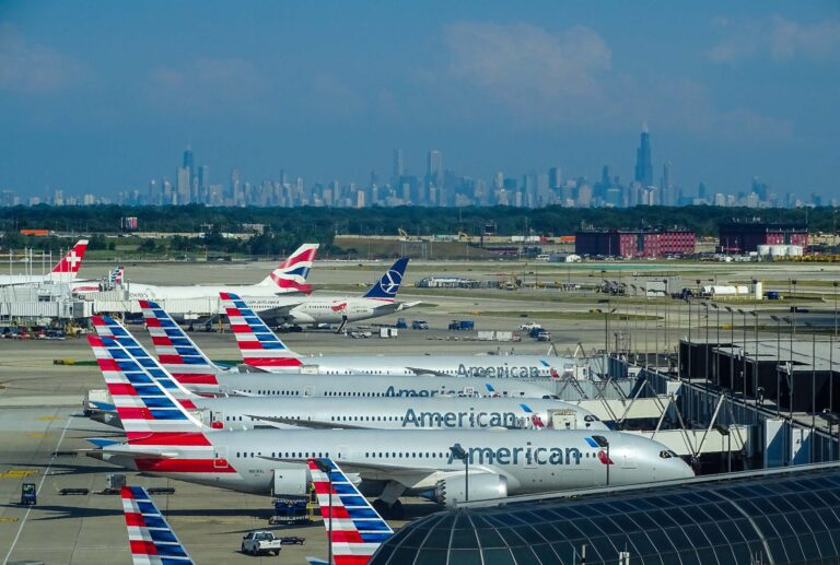 Aircraft parked at a U.S. airport