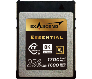 Photo of Exascend's high-performance CFexpress card