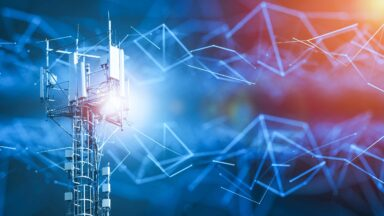 Telecommunications tower processing massive amounts of data