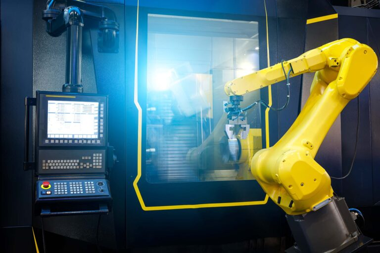 Industrial robot arm used in modern manufacturing