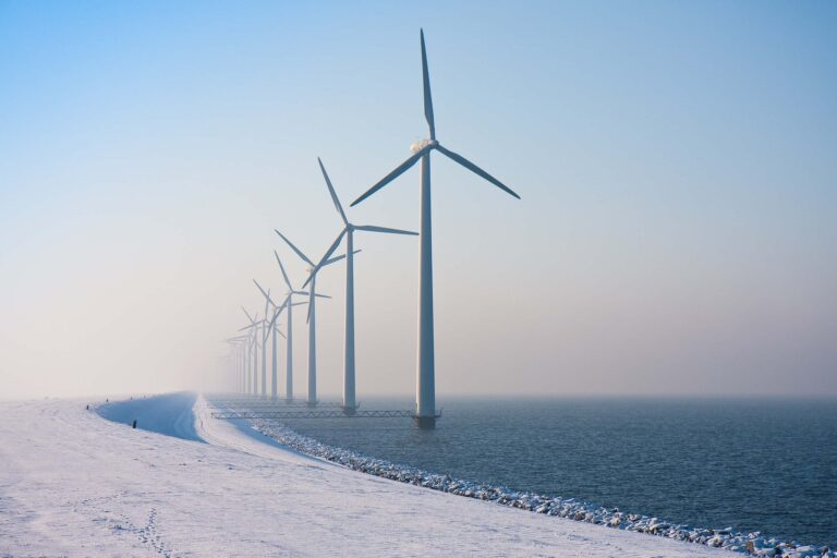 Wind turbines in an extreme low-temperature coastal environment