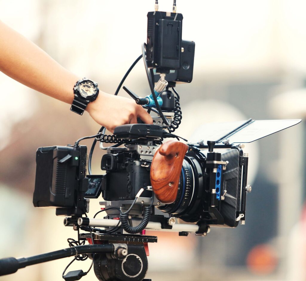 Advanced cinematograph setup displaying challenges in cinema applications