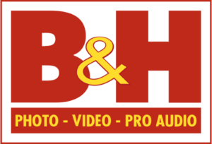Logo of B&H, an online retailer that stocks Exascend products