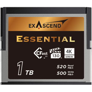 Exascend's high-performance CFast series of memory cards