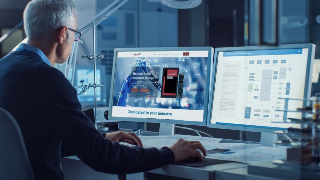 Engineer using Exascend's new website