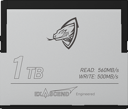 Exascend's Archon 1TB CFast card for RED KOMODO