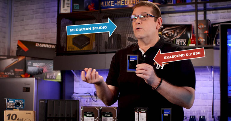 Mike from Mediaman Studio using Exascend's enterprise-class U.2 SSD