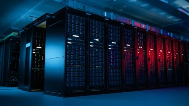 Photo of a datacenter with extreme capacity