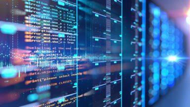 Image displaying firmware code