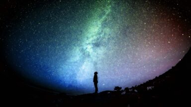 Person gazing into space