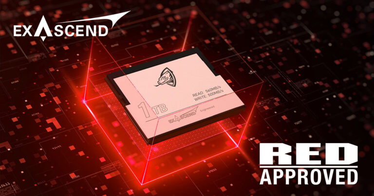 Image showing Exascend's RED-approved Archon CFast 2.0 memory card.